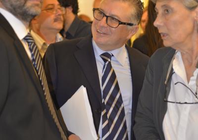 Il ministro Dario Franceschini, il rettore Giuseppe Novelli e il direttore del Museo Apr Andreina Ricci