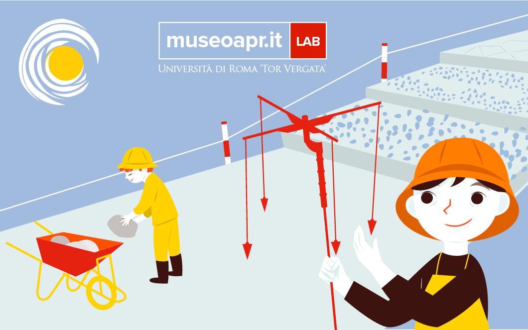 Costruiamo una strada romana - Laboratorio didattico per bambini dai 6 anni in su - Museo APR - Archeologia per Roma - Illustrazione Arianna Floris