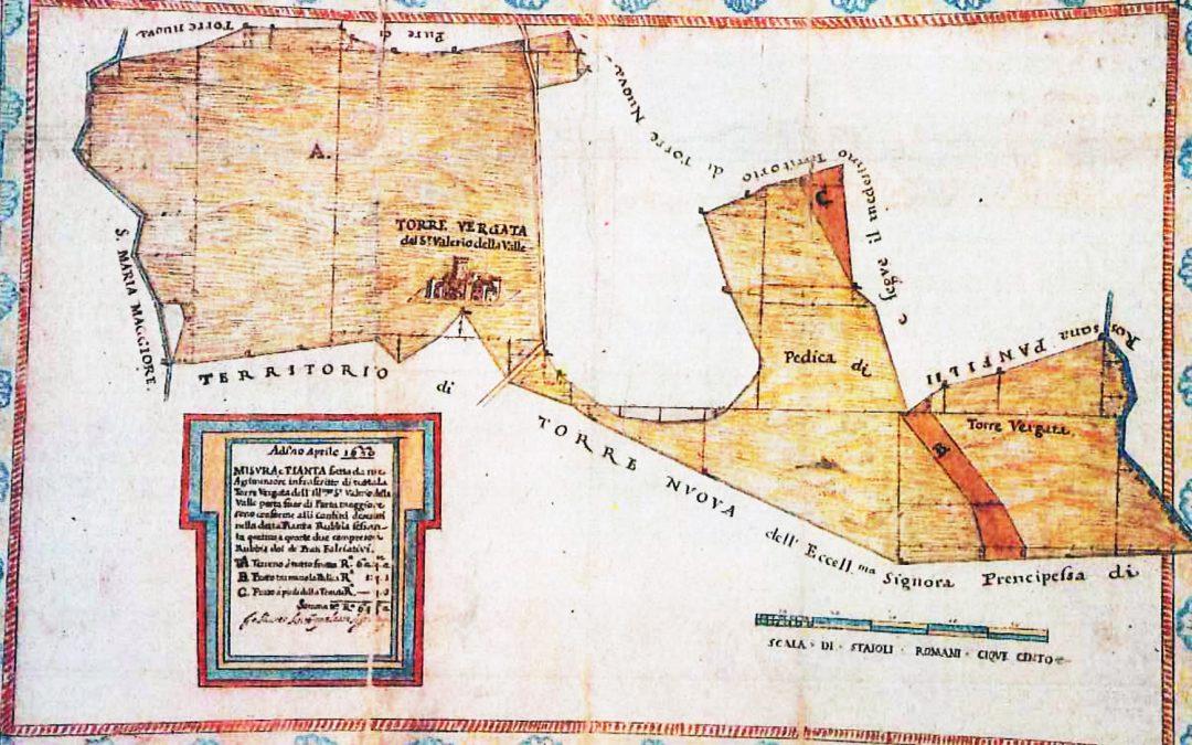 La tenuta della Torre Vergata nel sec. XVII - Archivio di Stato Catasto Alessandrino, Roma.