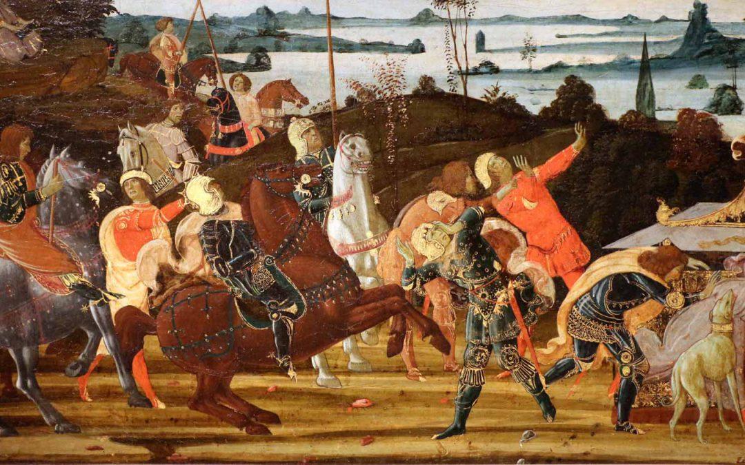 Tarquinio Prisco entra a Roma - Jacopo del Sellaio - 1470ca