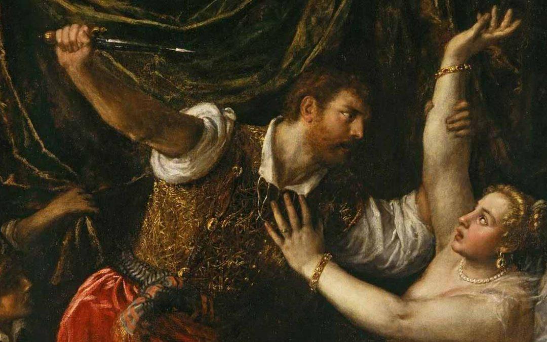 Lucrezia e Sesto Tarquinio in un dipinto di Tiziano